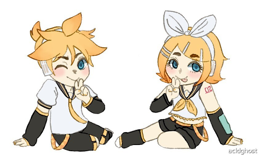 Len and Rin Kagamine by acldghost
