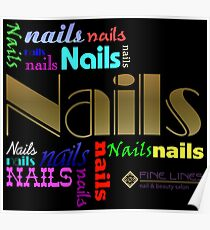 Nail art digital art posters redbubble fine lines nail crazy poster prinsesfo Image collections