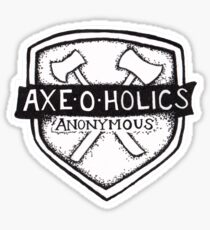 Axe-O-Holics Anonymous Shield Stamp Sticker