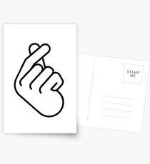 Koreanisches Fingerherz Ver. 2 Postkarten
