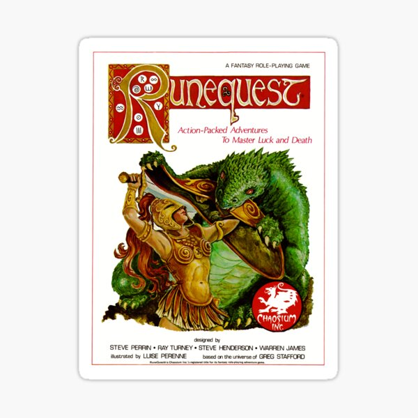 RuneQuest 2 Cover  Sticker