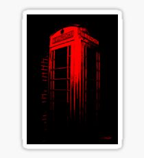 Telephone Booth Red Ink Sticker