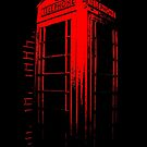 Telephone Booth Red Ink by Nathan Little