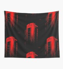 Telephone Booth Red Ink Wall Tapestry