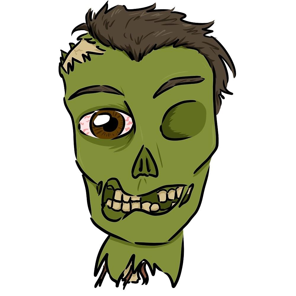 Zombie Head by Iainne