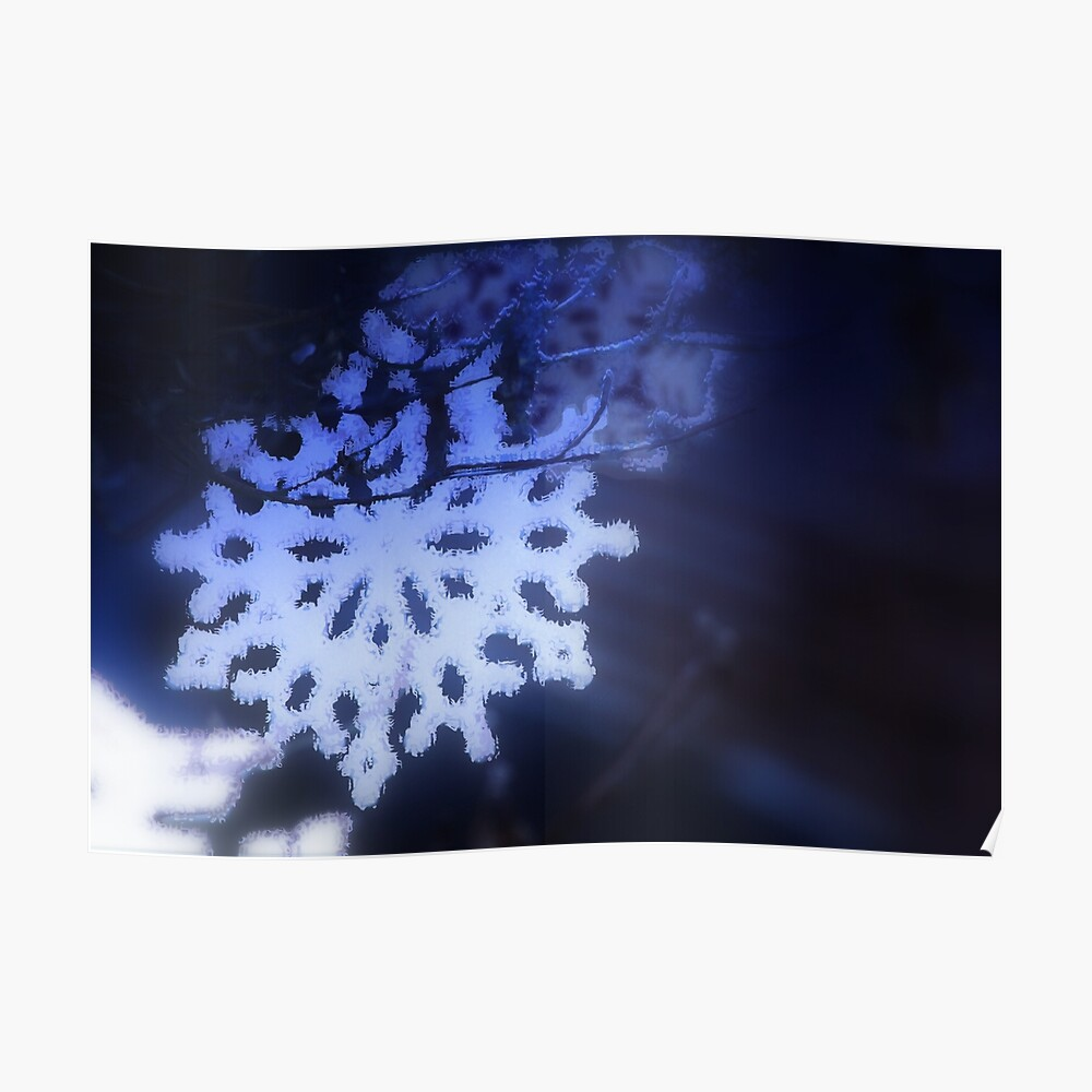 snowflakes in blue 3 Poster