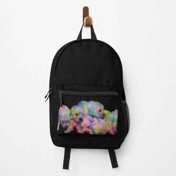 Artistic Colorful Cute Golden Retriever Puppy Pack Backpack