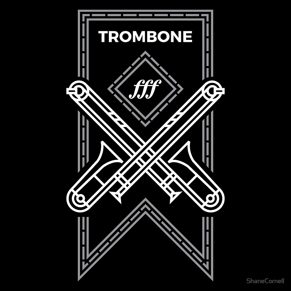 Trombone - White & Gray by ShaneCornell
