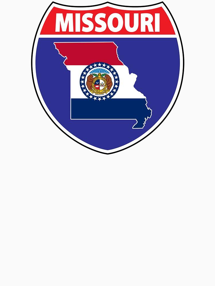 Missouri flag USA highway seal sign by mamatgaye