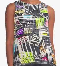 White Picket Fence Illusion Contrast Tank