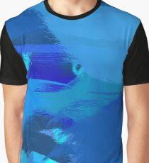 Blue Brush Strokes Graphic T-Shirt