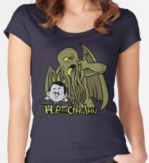 H.P. and Cthulhu Women's Fitted Scoop T-Shirt