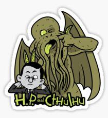 H.P. and Cthulhu Sticker