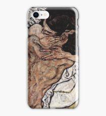 Egon Schiele - The Embrace 1917 iPhone Case/Skin