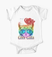 I <3 Cool Cats One Piece - Short Sleeve