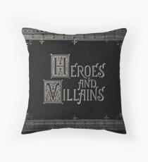 Cojín Érase una vez: héroes y villanos (texto grande)
