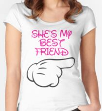 She's My Best Friend 2/2 Women's Fitted Scoop T-Shirt