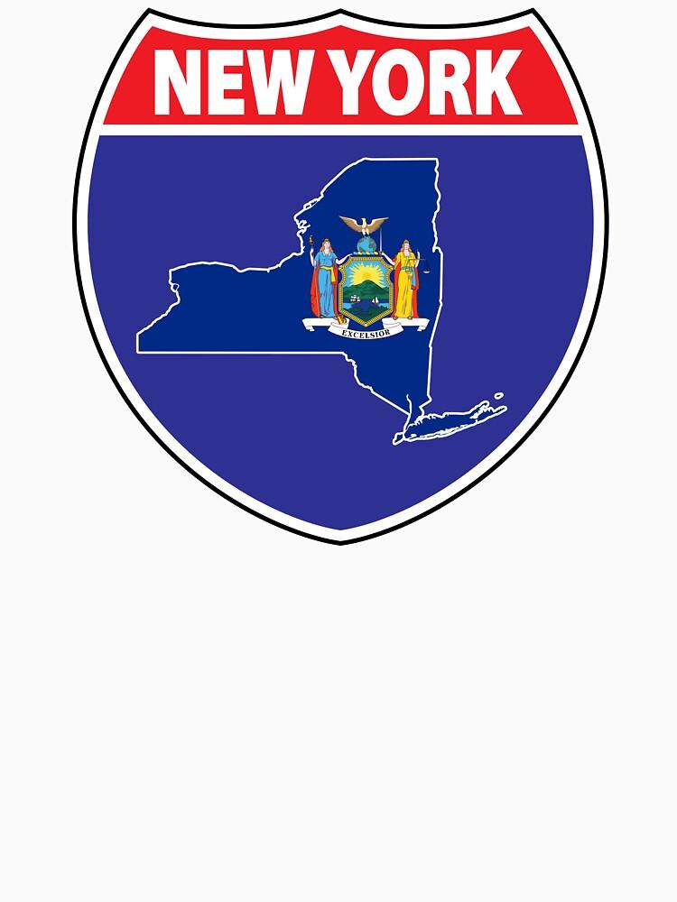 New York flag USA highway seal sign by mamatgaye