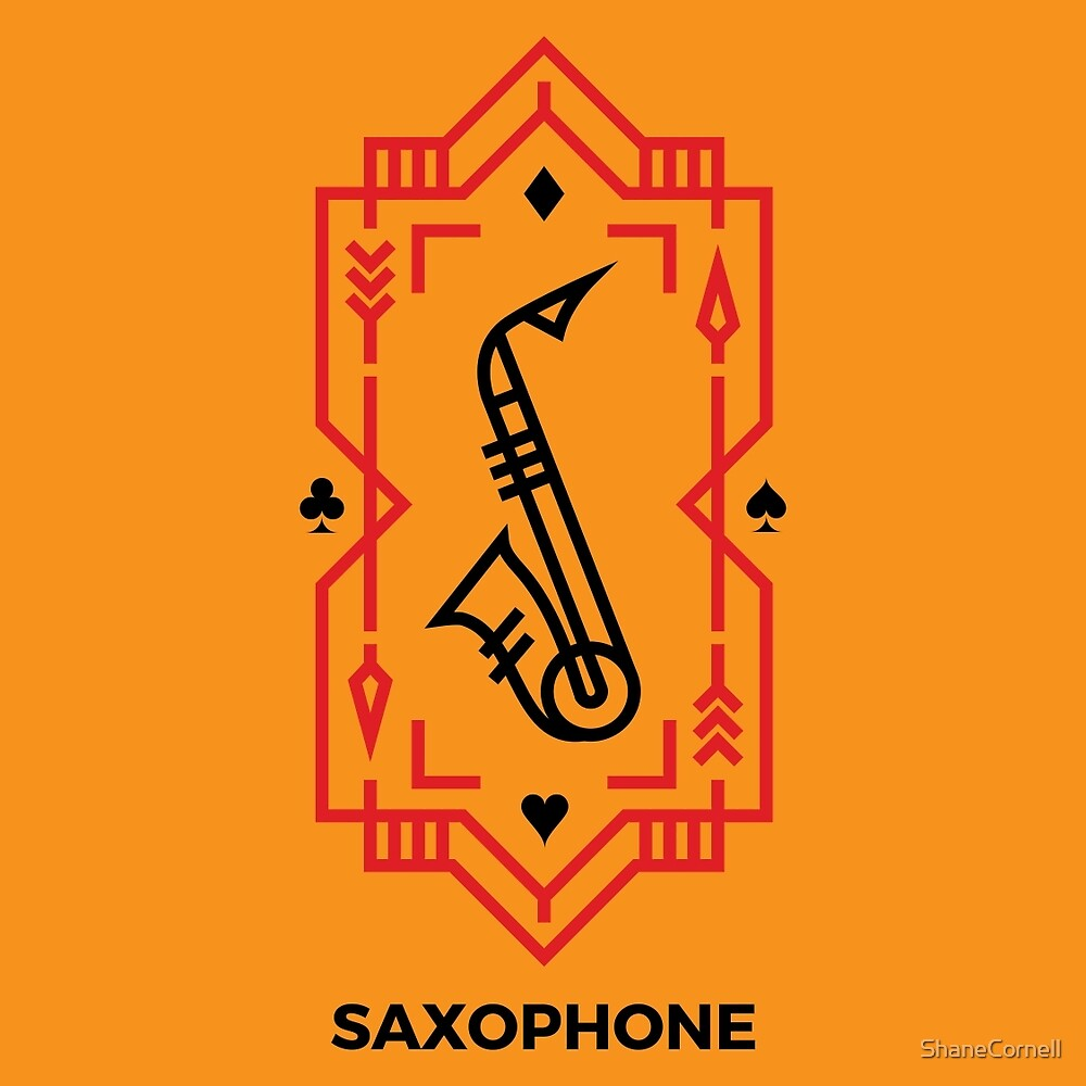 Saxophone - Black & Red by ShaneCornell