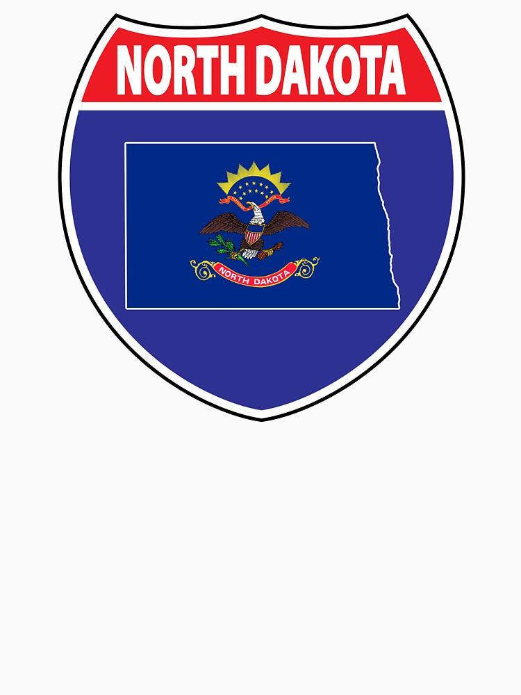 North Dakota flag USA highway seal sign by mamatgaye