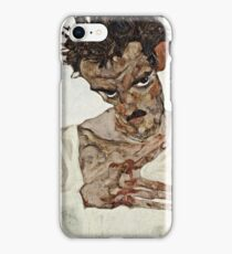 Egon Schiele - Self Portrait with Lowered Head (1912)  iPhone Case/Skin