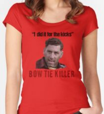 Problem Child Bow Tie Killer Quote Women's Fitted Scoop T-Shirt