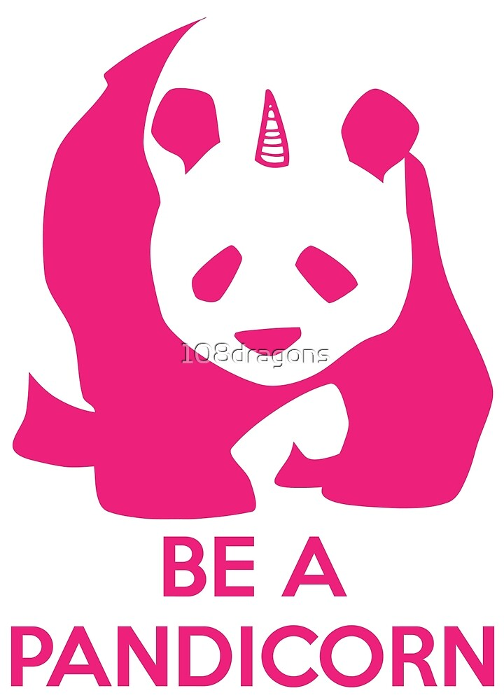 Be A Pandicorn - Pink Logo Design  by 108dragons