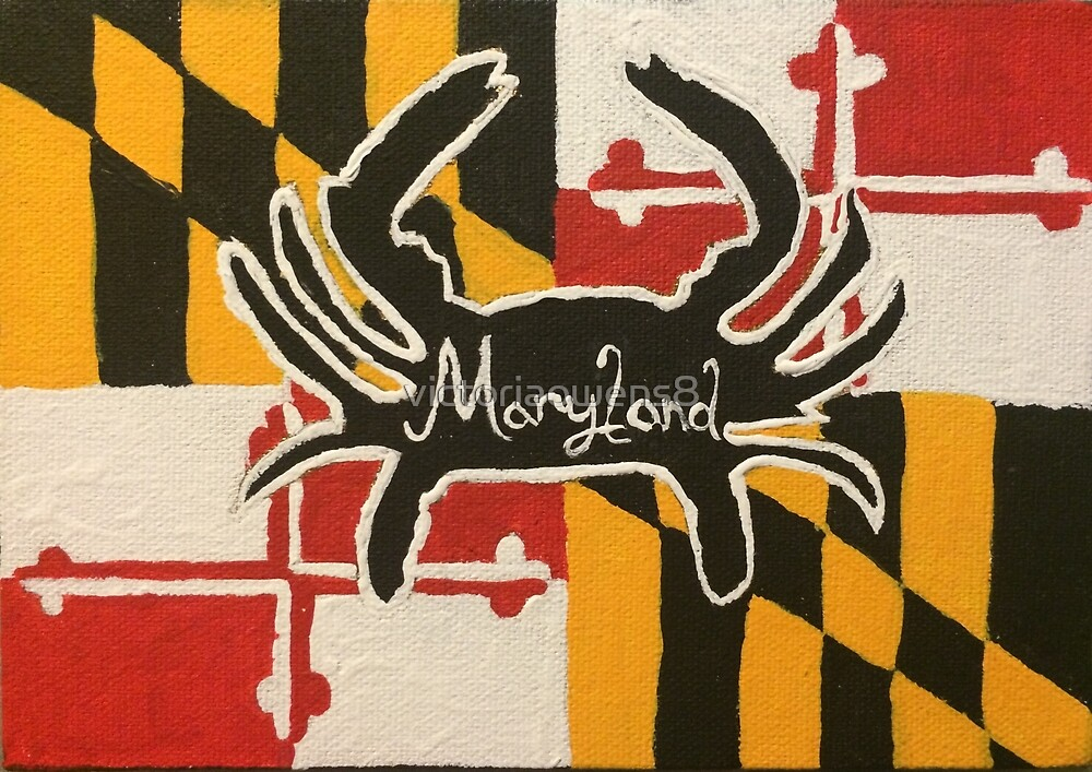 Maryland Crab Flag Background by victoriaowens8