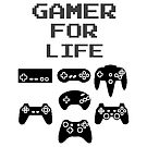 Gamer For Life ( Duvet Covers ) by PopCultFanatics