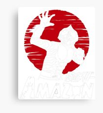 Japan Monster Tokusatsu Retro Masked Kamen Rider Amazon  Canvas Print