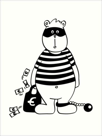 RäuBär. Räuber. Räubär. Bär. by frau-erbse
