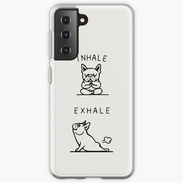 Inhale Exhale Frenchie Samsung Galaxy Soft Case