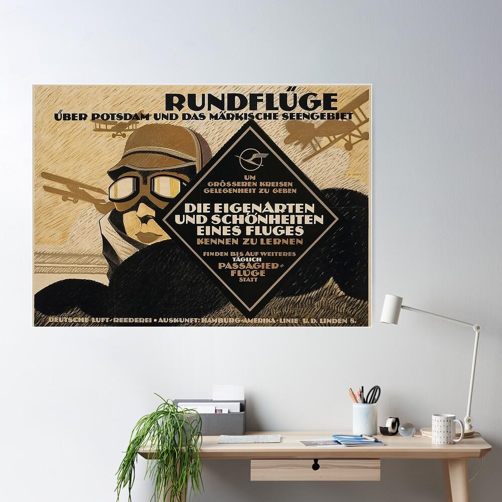 Berlin Sight Seeing flights, 1919 advertisement Poster