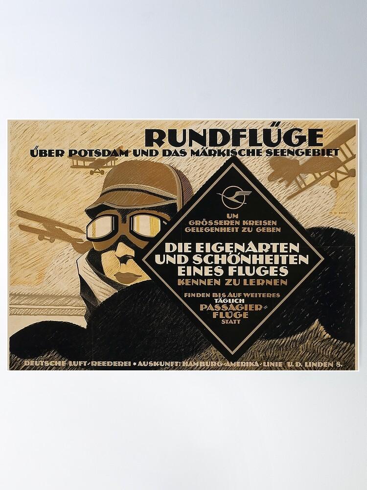 Alternate view of Berlin Sight Seeing flights, 1919 advertisement Poster