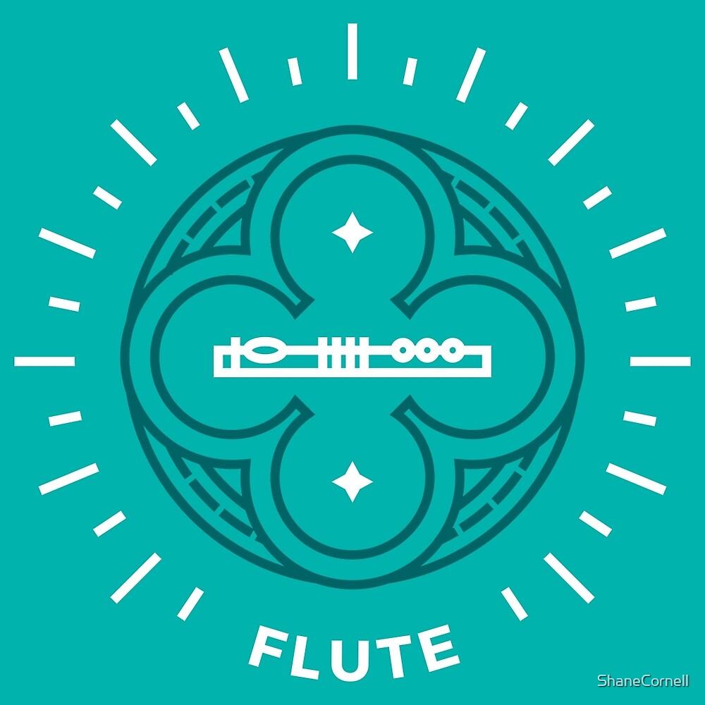 Flute - white & dark cyan by ShaneCornell