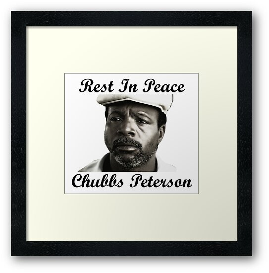 Rest In Peace Chubbs Peterson Happy Gilmore Framed Prints By