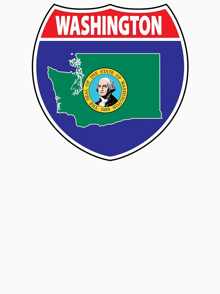 Washington flag USA seal sign by mamatgaye