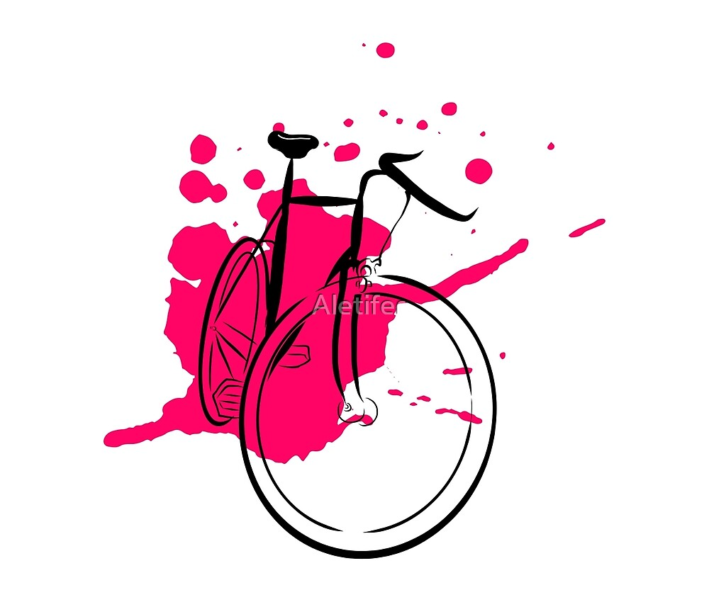 Bicycle Splash Stencil by Aletifer