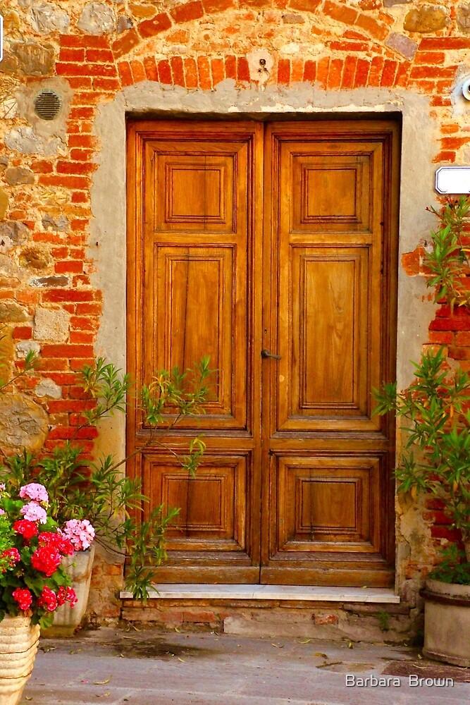 Beautiful Door in Citta della Pieve by Barbara  Brown