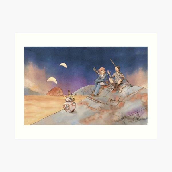 Desert BFFs Art Print