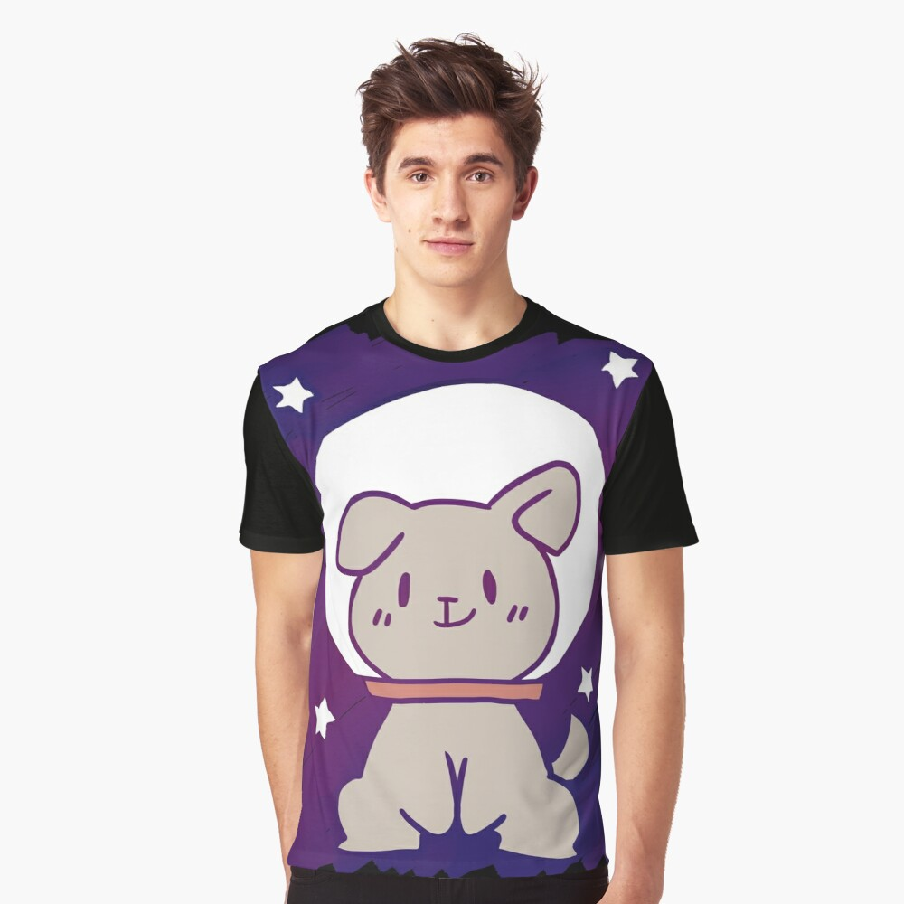 space dog Graphic T-Shirt Front