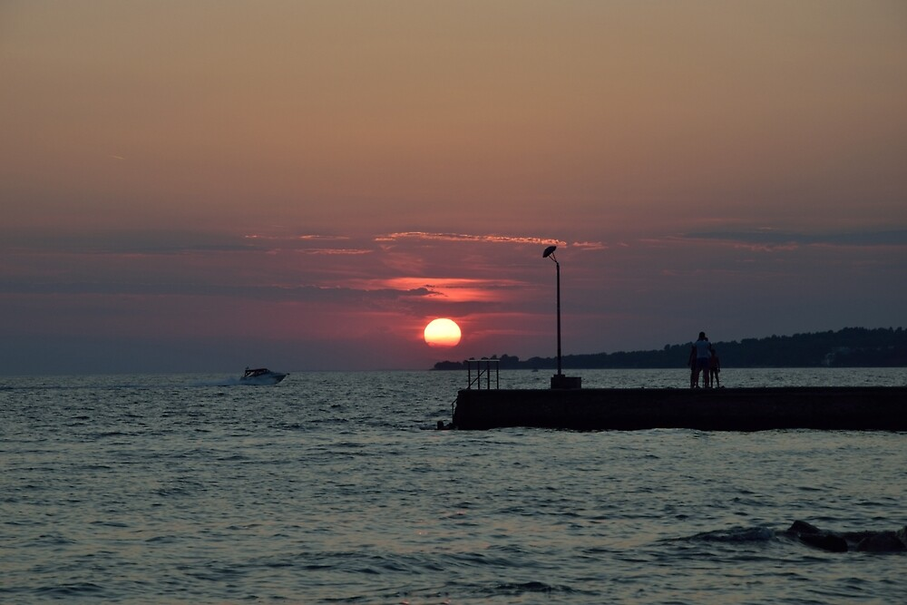 Sunset in Halkidiki Greece by asteri72