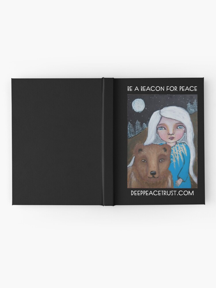 Alternate view of Be a Beacon for Peace - Artwork by Lulu's Heart Centered Healing Hardcover Journal