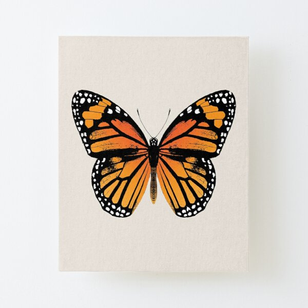 Monarch Butterfly   Vintage Butterflies    Canvas Mounted Print