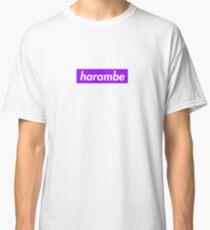 Harambe Purple Box Logo Classic T-Shirt
