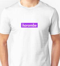 Harambe Purple Box Logo Unisex T-Shirt