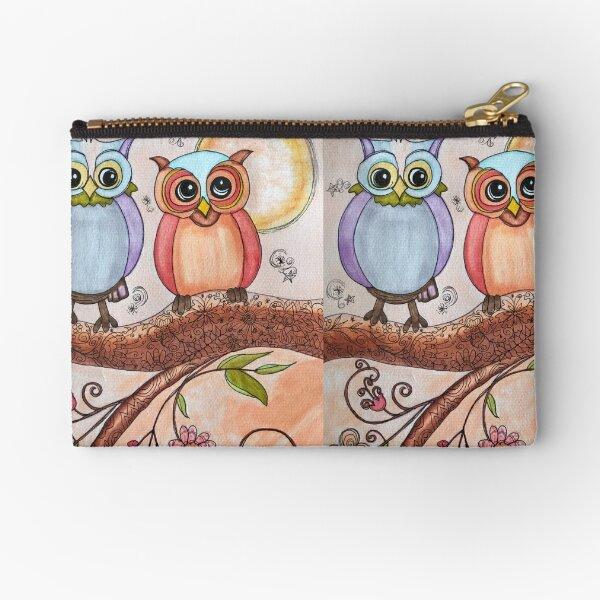 Owls in a Tree Zipper Pouch