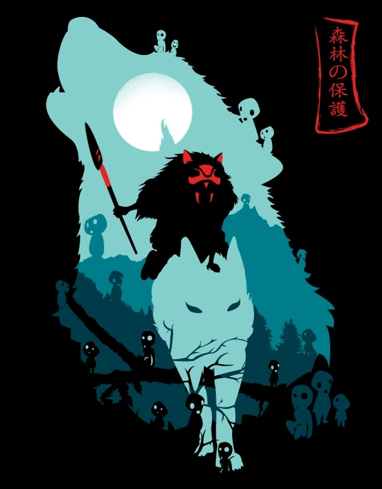 Princess Mononoke by rajurony212