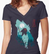 Princess Mononoke Women's Fitted V-Neck T-Shirt