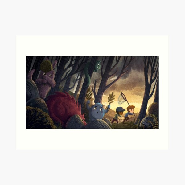 How To Catch A Monster Art Print